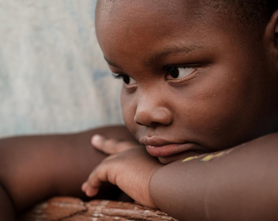 TRINIDAD, CUBA - CIRCA JANUARY 2020: Portrait of Cuban kid in the streets of Trinidad.