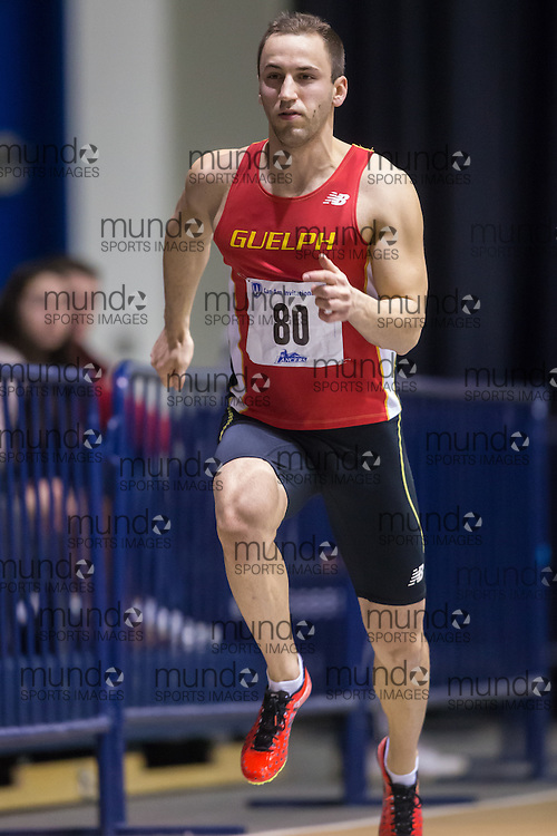 KJ Lukas of the University of Guelph  competes at the 2014 CanAm Track and Field meet in Windsor Ontario, Saturday,  January 11, 2014.<br /> Mundo Sport Images/ Geoff Robins