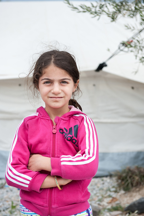 Rayyan 7 years old from Iraq in Kara Tepe camp in Lesvos, Greece