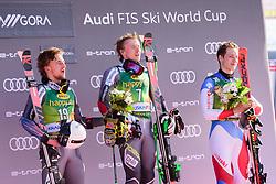 March 9, 2019 - Kranjska Gora, Kranjska Gora, Slovenia - Winners of the Audi FIS Ski World Cup Vitranc on March 8, 2019 in Kranjska Gora, Slovenia on the podium. From left: Rasmus Windingstad of Norway, Henrik Kristoffersen of Norway and Marco Odermatt of Switzerland. (Credit Image: © Rok Rakun/Pacific Press via ZUMA Wire)