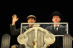 In the image - Matthew Macfadyen &amp; Stephen Mangan.<br /> At the press call,  scenes from the show 'Jeeves And Wooster In Perfect Nonsense' performed on stage, Duke of York Theatre, St Martins Lane, London, United Kingdom. Tuesday, 5th November 2013. Picture by Chris Joseph / i-Images