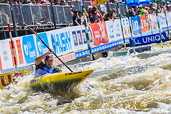 Kauzer Peter (SLO) competes in Semi-Finals during Day 2 of 2018 ECA Canoe Slalom European Championships, on June 2nd, 2018 in Troja , Prague, Czech Republic. Photo by Grega Valancic / Sportida