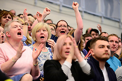 Bristol Flyers fans celebrate  - Photo mandatory by-line: Dougie Allward/JMP - 01/04/2017 - BASKETBALL - SGS Wise Arena - Bristol, England - Bristol Flyers v Leeds Force - British Basketball League