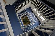 Plain stairwell in the German Red Cross (Deutsches Rotes Kreuz - DRK) administrative HQ at 58 Carstennstrasse, Berlin.