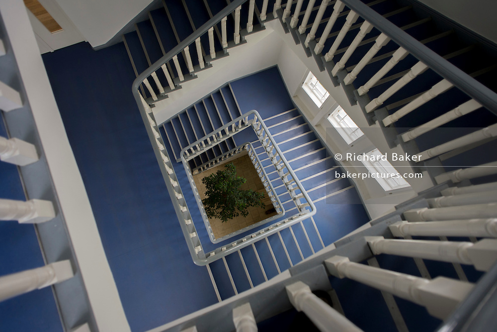 Plain stairwell in the German Red Cross (Deutsches Rotes Kreuz - DRK) administrative HQ at 58 Carstennstrasse, Berlin.