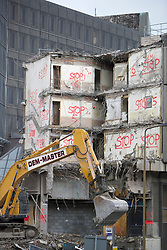 The demolition team taking down the St James Centre in Edinburgh have come up with a novel solution to prevent knocking down the wrong part of the building.
