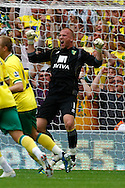 John Ruddy of Norwich celebrates his penalty save during the Barclays Premier League match at Carrow Road Stadium, Norwich, Norfolk...Picture by Paul Chesterton/Focus Images Ltd.  07904 640267.21/8/11