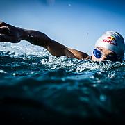 Jesse Thomas out on a training swim in Kona, HI, on 9 October, 2015.