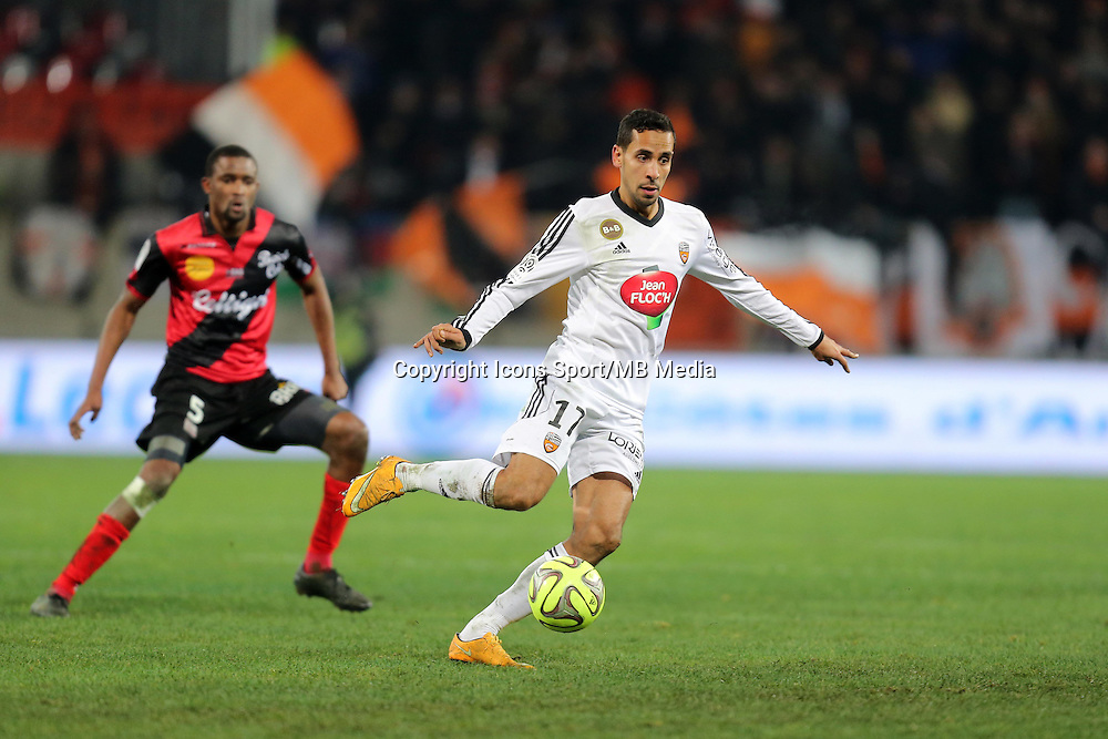 Walid MESLOUB  - 24.01.2015 - Guingamp / Lorient - 22eme journee de Ligue1<br />