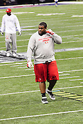 2/3/13 New Orleans LA.-NFL San Francisco 49er's players take the field for pre game warm up at the Mercedes Benz Super Dome. The Francisco 49er's take on the Baltimore Ravens Sunday Feb. 3, 2013Photo©Suzi Altman