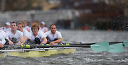 Putney, GREAT BRITAIN,   Cambridge 2009 Pre Boat Race Fixture,  Cambridge [CUBC] vs Leander Club, raced over part of the 'Championship Course' Putney to Mortlake, on the River Thames, Fri. 13.03.2009. [Mandatory Credit, Peter Spurrier / Intersport-images Crew left o right Cox Rebbeca DOWBIGGIN. Stroke , Silas STAFFORD, 7. Ryan MONOGHAN, 6. Hardy CUBASCH, 5. Deaglan McEACHERN, 4. Pete MARSLAND, 3. George NASH, 2. henry PELLY, Bow. Rob WEITEMEYER.