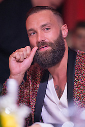 © Licensed to London News Pictures . 24/04/2014 . Manchester , UK . Calum Best on the judges' table . The Miss Manchester pageant , 2014 at the Palace Hotel . Photo credit : Joel Goodman/LNP