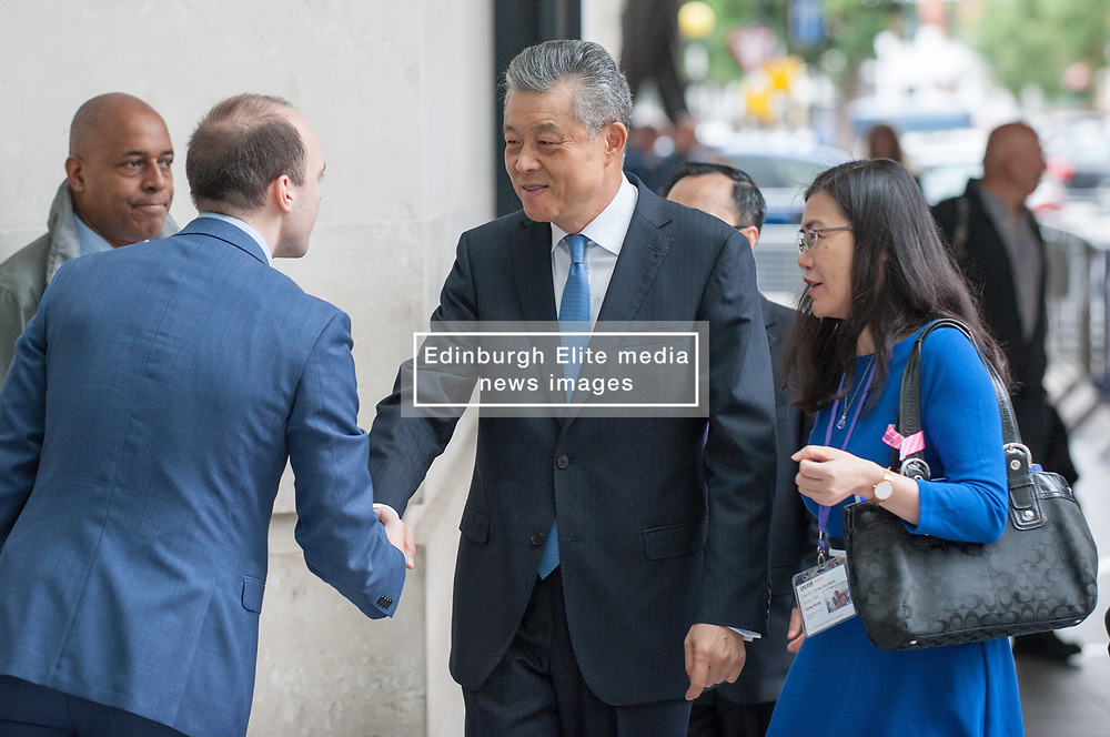 Chinese ambassador to the UK Liu Xiaoming arrives at the BBC for the Andrew Marr show.<br /> <br /> Richard Hancox   EEm 07072019