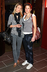 Left to right, VANESSA BARNABY and CAMILLA BUNN at the opening party for a new bowling alley All Star Lanes, at Victoria House, Bloomsbury Place, London on 19th January 2006.<br />