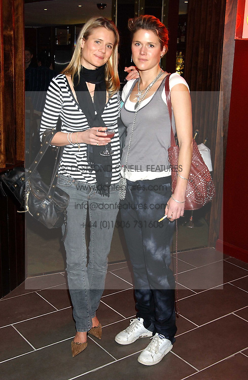 Left to right, VANESSA BARNABY and CAMILLA BUNN at the opening party for a new bowling alley All Star Lanes, at Victoria House, Bloomsbury Place, London on 19th January 2006.<br /><br />NON EXCLUSIVE - WORLD RIGHTS