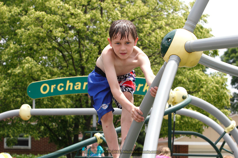 Bryce Taylor, 8 at Orchardly Park in Oakwood, Sunday, June 9, 2013.