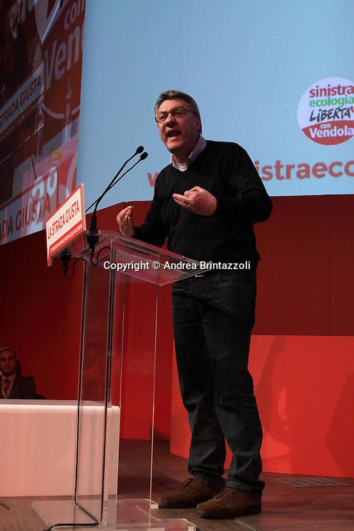 Riccione 25 Gennaio 2014 - 2&deg; Congresso Nazionale Sinistra Ecologia Liberta' - SEL<br /> Intervento di Maurizio Landini al congresso SEL