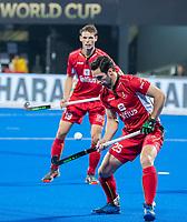 BHUBANESWAR, INDIA - Loick Luypaert (Belgie)  tijdens   de  finale tussen België en Nederland (0-0) bij het WK Hockey heren in het Kalinga Stadion. Belgie wint na shoot-outs. COPYRIGHT KOEN SUYK