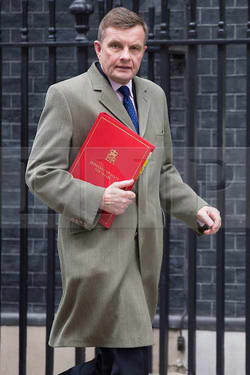 © licensed to London News Pictures. London, UK 16/04/2013. Secretary of State for Wales,  David Jones leaving Downing Street after Cabinet meeting on Tuesday, 16 April 2013. Photo credit: Tolga Akmen/LNP