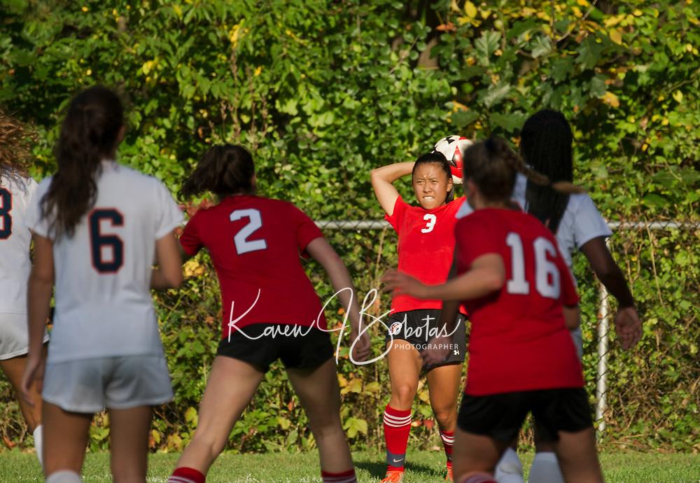 St Paul's School girls varsity soccer.  ©2018 Karen Bobotas Photographer