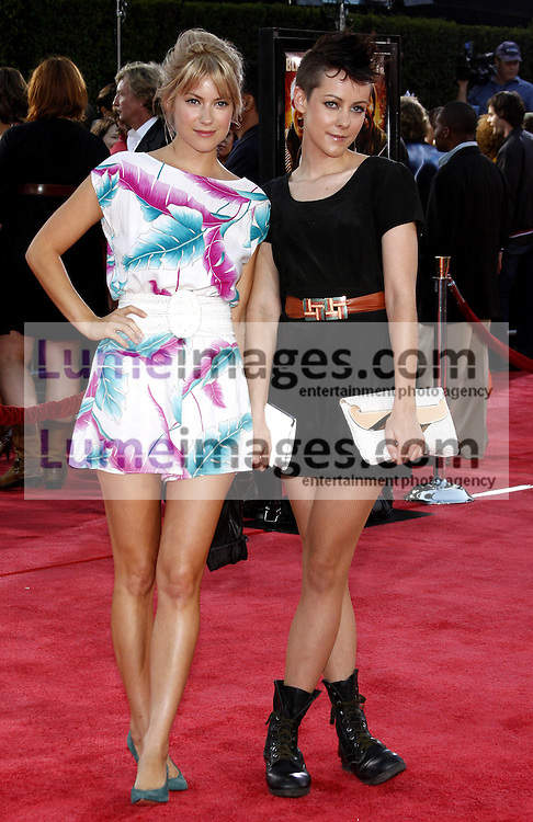 Jena Malone and Laura Ramsey at the Los Angeles premiere of 'Tropic Thunder' held at the Mann Village Theater in Westwood on August 11, 2008. Credit: Lumeimages.com