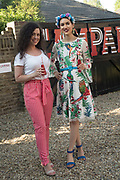 LUCY ELLEN; ANA DE JESUS, Private view for the Art of Campari, The Estorick Collection,  Islington. London. 3 July 2018