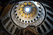 Dome of the Rotunda anastasis inside the Basilica of the Holy Sepulcher in Jerusalem