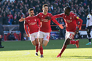 GOAL - Joe Lolley celebrates during the EFL Sky Bet Championship match between Nottingham Forest and Luton Town at the City Ground, Nottingham, England on 19 January 2020.