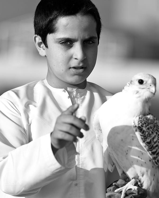 Emarati boy and his falcon
