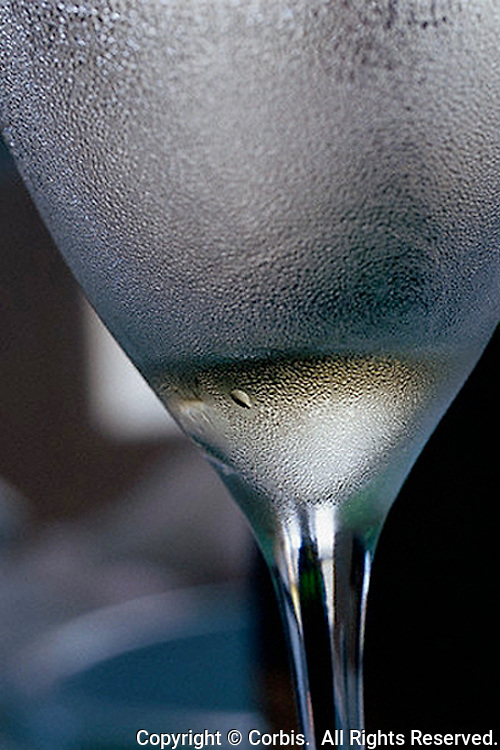 01 Sep 2001, Reims, France --- Frosty Glass of Champagne --- Image by © Owen Franken/CORBIS