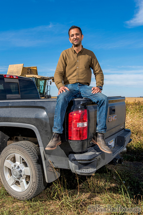 Imran Khan, Butte City rice farmer Monday, October 29, 2018.<br /> Photo Brian Baer