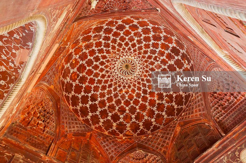 Ceiling details in Taj Mahal, Agra, Uttar Pradesh, India