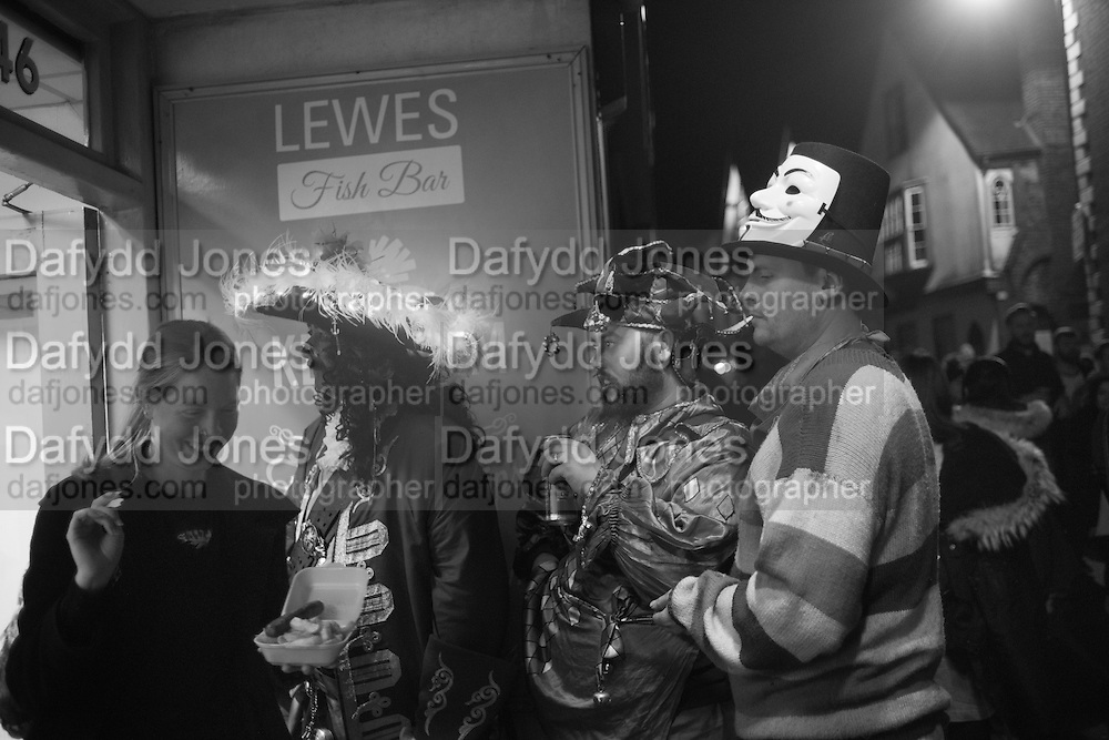 OUTSIDE CHIP SHOP, Lewes Bonfire Night Celebrations , November 5th 2016