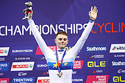 Podium, MenElimination Race, Matthew Wall (Great Britain) Gold medal during the Track Cycling European Championships Glasgow 2018, at Sir Chris Hoy Velodrome, in Glasgow, Great Britain, Day 6, on August 7, 2018 - Photo luca Bettini / BettiniPhoto / ProSportsImages / DPPI<br /> - Restriction / Netherlands out, Belgium out, Spain out, Italy out -
