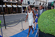 VENUS WILLIAMS; , The 2010 Ralph Lauren Wimbledon Party hosted by Elizabeth Saltzman in support of Too Many Women in celebration of the renewal of the Ralph Lauren Wimbledon partnership. Ralph Lauren shop. No.1 New Bond Street, London W1. 20 June 2010. <br />  <br /> -DO NOT ARCHIVE-© Copyright Photograph by Dafydd Jones. 248 Clapham Rd. London SW9 0PZ. Tel 0207 820 0771. www.dafjones.com.