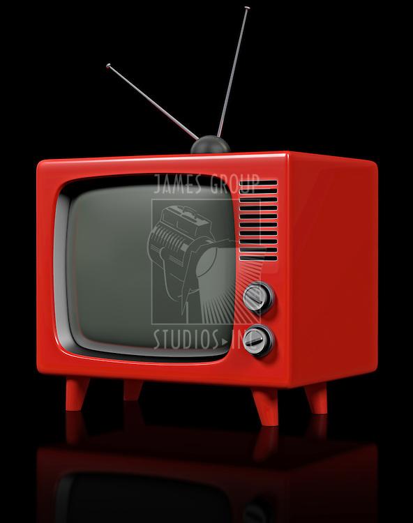 Retro plastic television