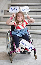 Repro Free: 03/09/2014<br /> Emily Fitzsimons (7) from Kildare is pictured at the launch of the Temple Street national Spina Bifida services research report. This report shows the gross under-resourcing of services for children with Spina Bifida both in Temple Street and across the country. These children have extremely complex needs but the research showed that 54% of them do not have access to a multidisciplinary team (MDT) clinic despite the fact that 69% of children with SB over three years use a wheelchair, 93% of them over five years require continence support and 64% of them have a VP shunt to manage hydrocephalus. Picture Andres Poveda