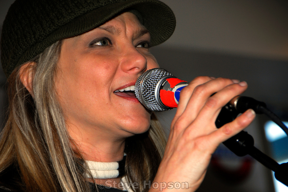 Paula Nelson, daughter of famed country singer Willie Nelson, performs at an in-store appearance in Waterloo Records in Austin Texas, February 28 2008.