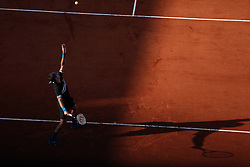 PARIS, May 30, 2018  Del Potro of Argentina serves during the men's singles first round match against Nicolas Mahut of France at the French Open Tennis Tournament 2018 in Paris, France on May 29, 2018. Del Potro won 3-1. (Credit Image: © Luo Huanhuan/Xinhua via ZUMA Wire)