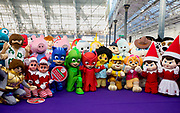 UNITED KINGDOM, London: 22 January 2019. A group picture of some of children's favourite characters at The Toy Fair 2019 being held at Olympia London this morning. The Toy Fair, which runs between 22nd-24th of January, is the UK's largest toy trade event with over 250 exhibiting companies launching thousands of new products. <br /> Rick Findler / Story Picture Agency