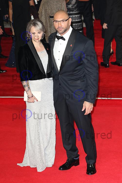 Dave Bautista, Bond: Spectre - World Premiere & Royal Film Performance, Royal Albert Hall, London UK, 26 October 2015, Photo by Richard Goldschmidt