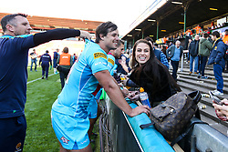 Francois Venter of Worcester Warriors celebrates victory over Leicester Tigers - Mandatory by-line: Robbie Stephenson/JMP - 23/09/2018 - RUGBY - Welford Road Stadium - Leicester, England - Leicester Tigers v Worcester Warriors - Gallagher Premiership