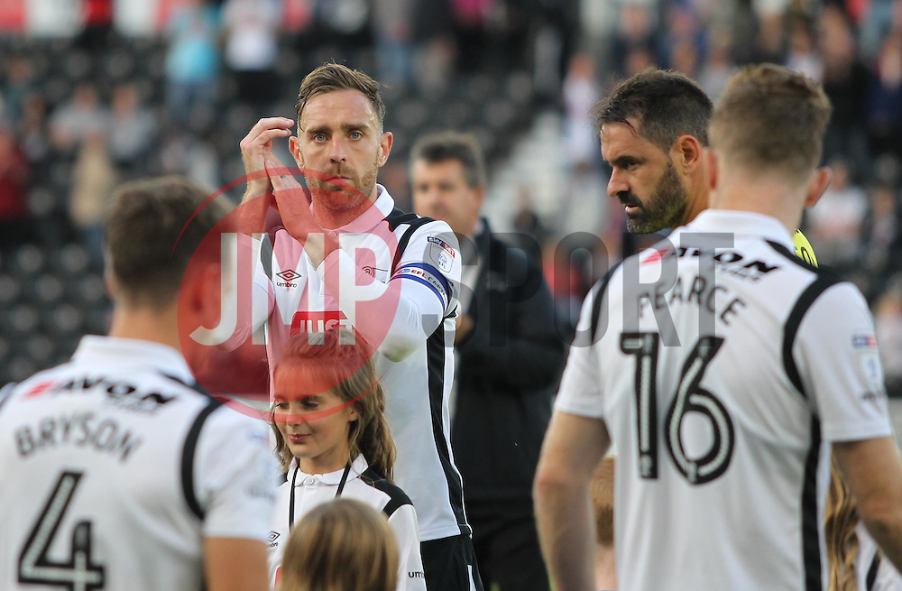 Richard Keogh of Derby County before the match - Mandatory by-line: Jack Phillips/JMP - 09/08/2016 - FOOTBALL - iPro Stadium - Derby, England - Derby County v Grimsby Town - EFL Cup First Round