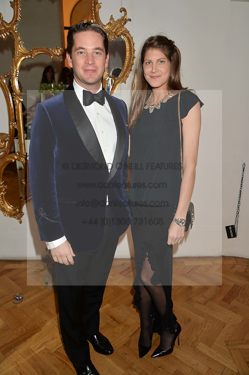 JAMES & PRINCESS FLORENCE TOLLEMACHE at the Sugarplum Dinner in aid Sugarplum Children a charity supporting children with type 1 diabetes and raising funds for JDRF, the world's leading type 1 diabetes research charity held at One Marylebone, London on 18th November 2015.
