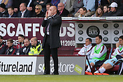 Burnley Manager Sean Dyche  during the Sky Bet Championship match between Burnley and Leeds United at Turf Moor, Burnley, England on 9 April 2016. Photo by Simon Davies.