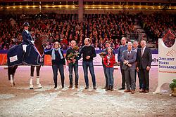 Cornelissen Adelinde, NED, Henkie<br /> KWPN Stallionshow - 's Hertogenbosch 2018<br /> © Hippo Foto - Dirk Caremans<br /> 02/02/2018