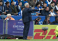 Football - 2016/2017 Premier League - Leicester Ciity V Arsenal. <br /> <br /> Leicester City Manager Claudio Ranieri points the way at The King Power Stadium.<br /> <br /> COLORSPORT/DANIEL BEARHAM