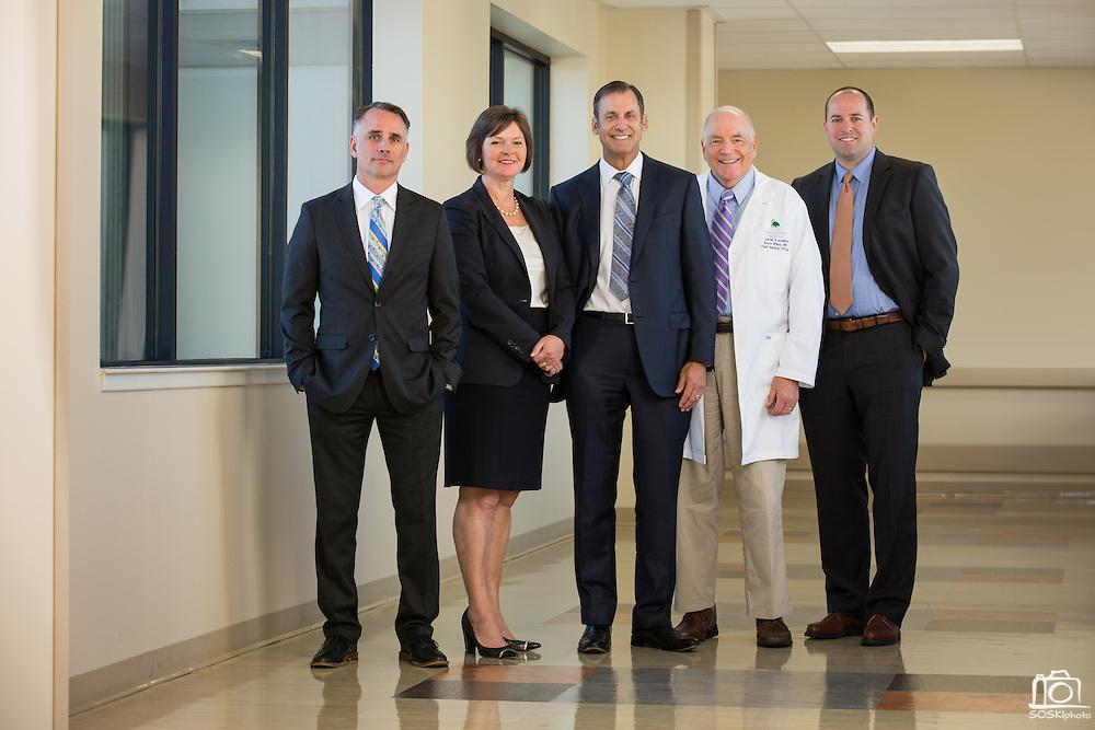 The Good Samaritan Hospital executive team poses for a portrait at Good Samaritan Hospital in San Jose, California, on October 12, 2015. (Stan Olszewski/SOSKIphoto)