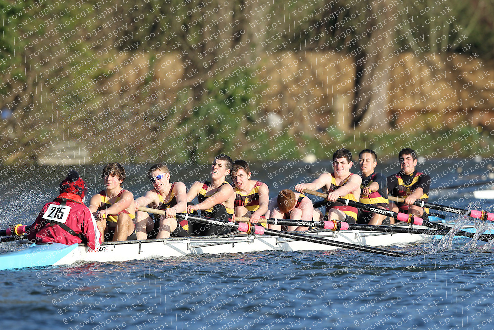 2012.02.25 Reading University Head 2012. The River Thames. Division 2. Shiplake College Boat Club Nov 8+