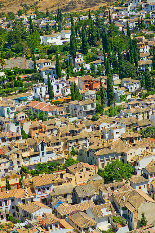 Alberto Carrera, Albaicín Neighborhood from La Alhambra, UNESCO World Heritage Site, Granada, Andalucía, Spain, Europe
